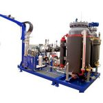 machine écumante à haute pression de cyclopentane, machine de remplissage de mousse d'unité centrale 32kw