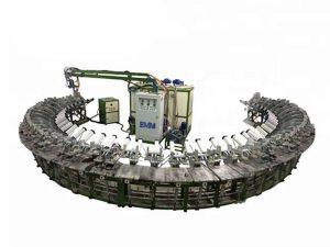 chaîne de production continue de mousse de polyuréthane styrofoam eps