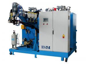 machine à couler en élastomère à trois composants